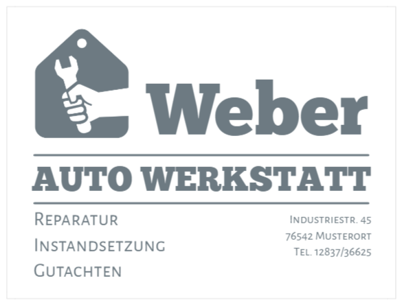 autoschilder wie Vinyl Text