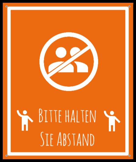 warnschilder wie Aluminiumschild
