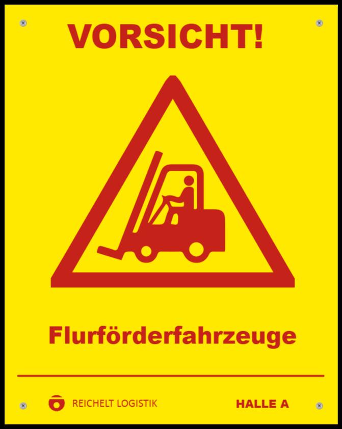 warnschilder wie Kunststoffschild