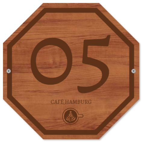nummernschilder wie Holzschild