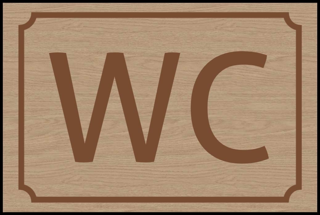toilettenschilder wie Holzschild